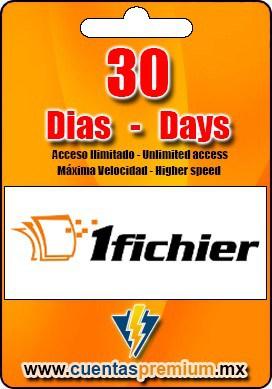Cuenta Premium de 1fichier de 30 Dias