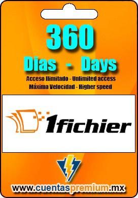 Cuenta Premium de 1fichier de 360 Dias