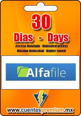 Cuenta Premium de Alfafile de 30 Dias