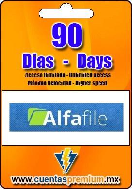 Cuenta Premium de Alfafile de 90 Dias