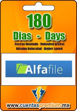 Cuenta Premium de Alfafile de 180 Dias