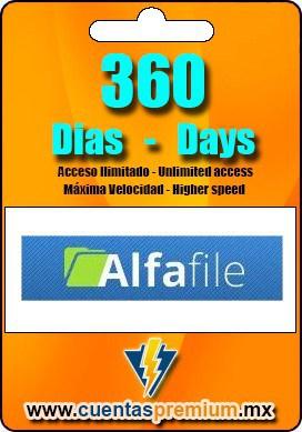 Cuenta Premium de Alfafile de 360 Dias