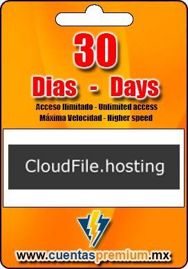 Cuenta Premium de CloudFile de 30 Dias