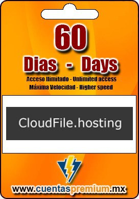 Cuenta Premium de CloudFile de 60 Dias