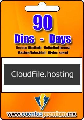Cuenta Premium de CloudFile de 90 Dias