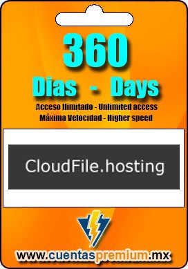 Cuenta Premium de CloudFile de 360 Dias