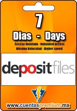 Cuenta Premium de depositfiles de 7 Dias