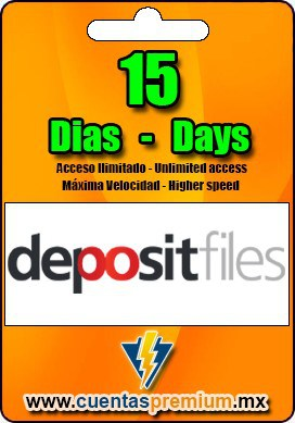 Cuenta Premium de depositfiles de 15 Dias