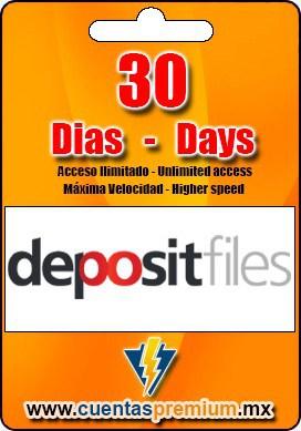 Cuenta Premium de depositfiles de 30 Dias