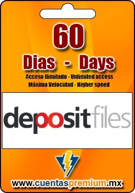 Cuenta Premium de depositfiles de 60 Dias
