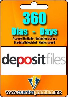 Cuenta Premium de depositfiles de 360 Dias