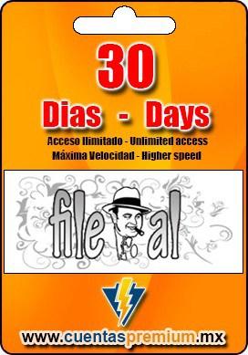 Cuenta Premium de File-al de 30 Dias