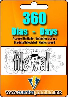 Cuenta Premium de File-al de 360 Dias