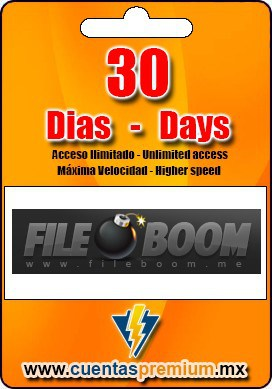 Cuenta Premium de FILEBOOM de 30 Dias