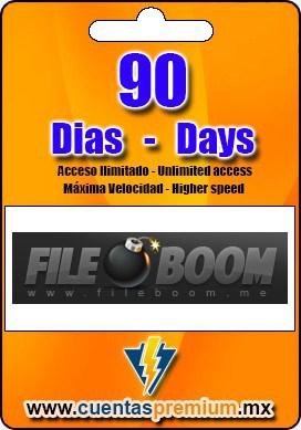 Cuenta Premium de FILEBOOM de 90 Dias