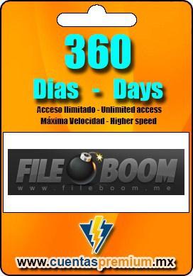 Cuenta Premium de FILEBOOM de 360 Dias