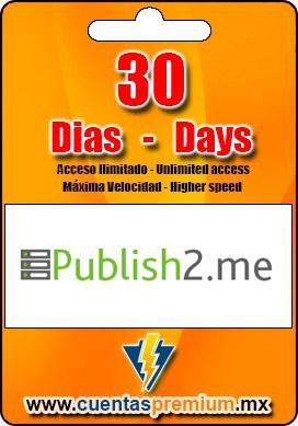 Cuenta Premium de Publish2-me de 30 Dias