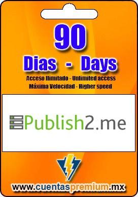 Cuenta Premium de Publish2-me de 90 Dias