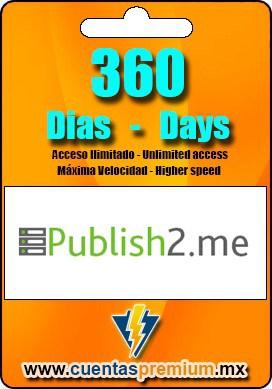 Cuenta Premium de Publish2-me de 360 Dias