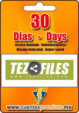 Cuenta Premium de TezFiles de 30 Dias