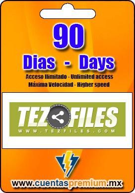 Cuenta Premium de TezFiles de 90 Dias