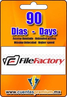 Cuenta Premium de FileFactory de 90 Dias