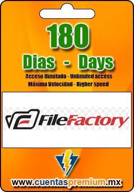 Cuenta Premium de FileFactory de 180 Dias