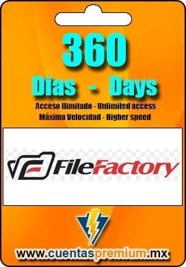 Cuenta Premium de FileFactory de 360 Dias