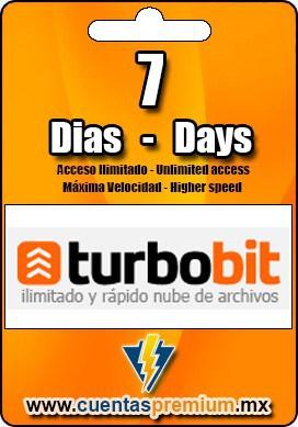 Cuenta Premium de Turbobit de 7 Dias