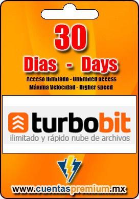 Cuenta Premium de Turbobit de 30 Dias