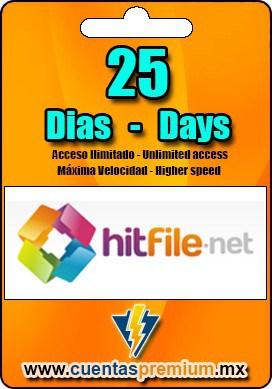 Cuenta Premium de hitFile de 25 Dias