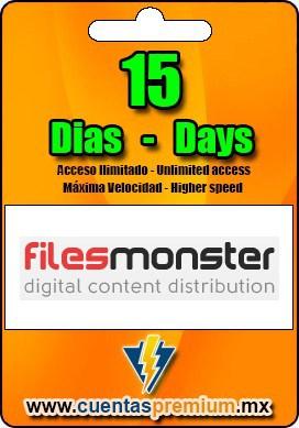 Cuenta Premium de Filesmonster de 15 Dias
