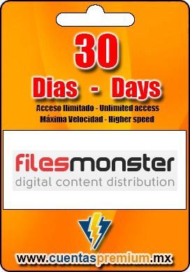 Cuenta Premium de Filesmonster de 30 Dias