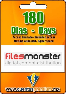 Cuenta Premium de Filesmonster de 180 Dias