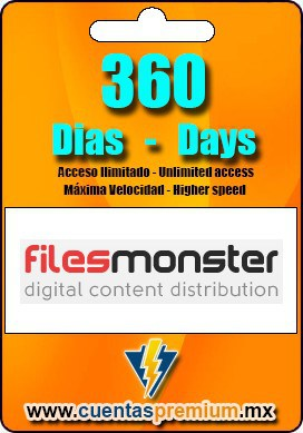 Cuenta Premium de Filesmonster de 360 Dias