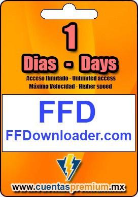 Cuenta Premium de FFDownloader de 1 Dias