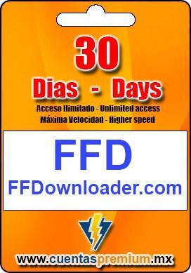 Cuenta Premium de FFDownloader de 30 Dias