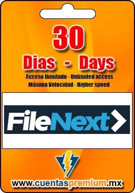 Cuenta Premium de FileNext de 30 Dias