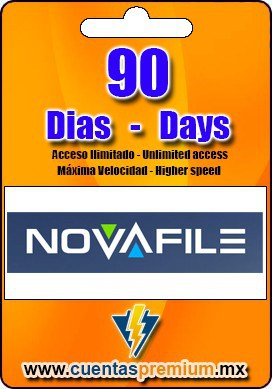 Cuenta Premium de NOVAFILE de 90 Dias