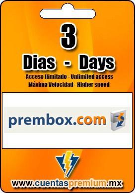 Cuenta Premium de prembox de 7 Dias