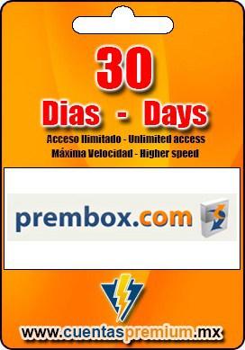 Cuenta Premium de prembox de 30 Dias