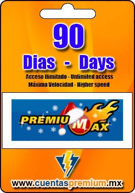 Cuenta Premium de PREMIUMAX de 90 Dias