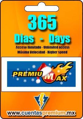 Cuenta Premium de PREMIUMAX de 365 Dias