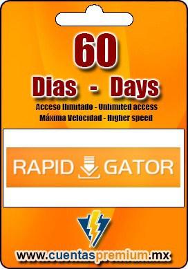 Cuenta Premium de Rapidgator de 60 Dias