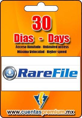 Cuenta Premium de RareFile de 30 Dias