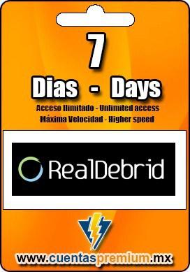 Cuenta Premium de RealDebrid de 7 Dias