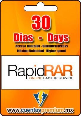 Cuenta Premium de RapidRAR de 30 Dias
