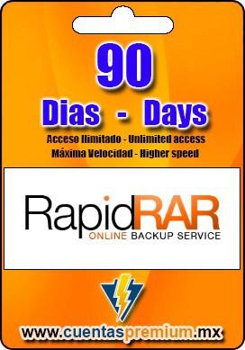Cuenta Premium de RapidRAR de 90 Dias