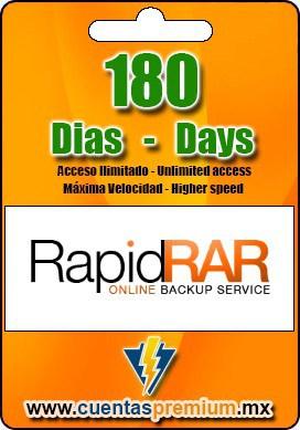 Cuenta Premium de RapidRAR de 180 Dias