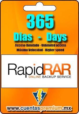 Cuenta Premium de RapidRAR de 365 Dias